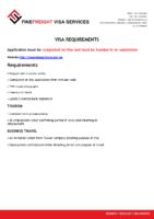 Taiwan Visa Requirments