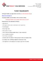 Turkey Visa Requirments