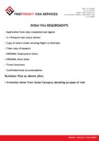 UAE Visa Requirments
